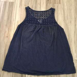 Old Navy blue tank top size L